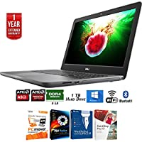 Dell 15.6 A9-9400 8GB RAM 1TB HDD Laptop (i5565-0850GRY) + Elite Suite 17 Standard Software Bundle (Corel WordPerfect, PC Mover, PDF Fusion, X9) + 1 Year Extended Warranty