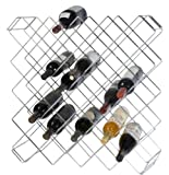 "Omega Precision - Chrome Wine Rack Module, 45 bottle capacity, 8""W x 26-1/2""L x 26-1/2""H, compartment size 3-1/2"" sq.,"