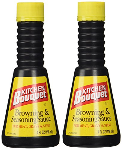 Kitchen Bouquet Browning and Seasoning Sauce 4-Ounce Bottles (Pack of 2)