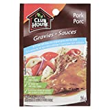 Club House Gravy Mix for Pork 25-percent Less Salt, 24gm (Pack of 18)