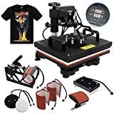 F2C Professional Multifunction Digital Transfer Sublimation Swing-Away 360-degree Rotation Heat Press Machine Hat/Mug/Plate/Cap/T-Shirt Black (6 in 1 Multi-Function Heat Press)