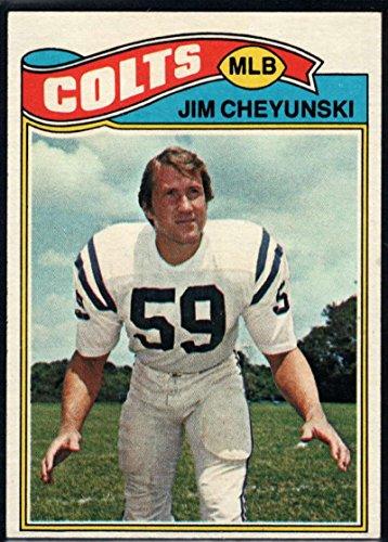 Football NFL 1977 Topps #312 Jim Cheyunski Colts (1977 Topps Card Colts)