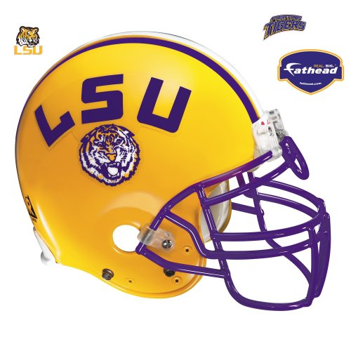 (LSU Tigers Helmet Vinyl Wall Graphic Decal Sticker)