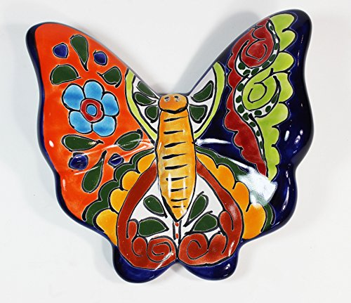 Tierra Fina Talavera Large Butterfly - 7'' x 6.25'' Decoartion F by Tierra Fina