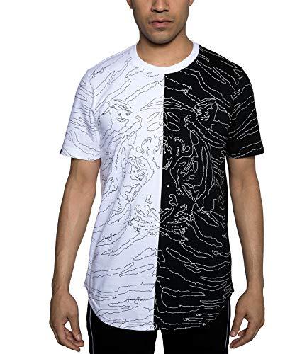 - Sean John Mens Floating Tiger Split Graphic T-Shirt. Floating (4XL, White)