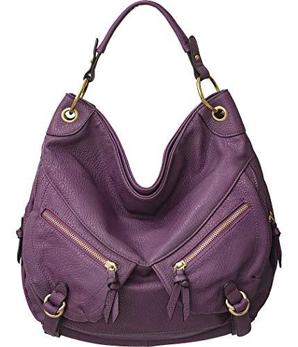 Vitalio Vera Valencia Purple Utilitarian Crossbody Hobo Handbag