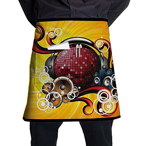Kjiurhfyheuij Half Short Aprons Dance Light Party Waist Apron with Pockets Kitchen Restaurant for Women Men Server by Kjiurhfyheuij (Image #1)