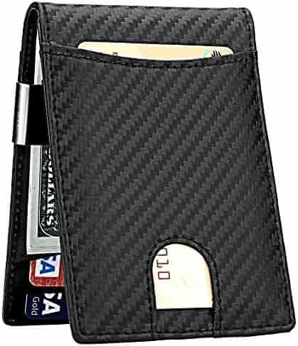 Money Clip Wallet for Men Slim Front Pocket RFID Blocking Card Holder Minimalist Bifold Wallet