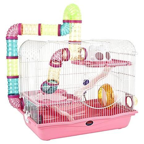 Little Zoo Henry Jaula, Color Rosa: Amazon.es: Productos para mascotas