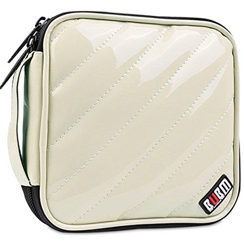 BIKICOCO 32 Capacity PU Leather CD/DVD Case Wallet, Storage, Holder - Khaki