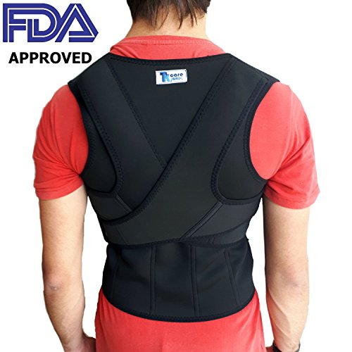 THE ULTIMATE Posture Corrector for Women and Men | Unisex Braces Shoulders and Clavicle Support | Upper and Lower Back Supports | Body Therapy with No Pain (Medium) (Body Brace)