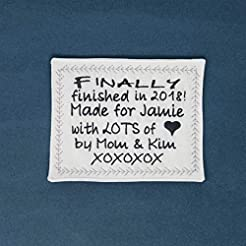 Embroidered Custom Quilt Label Quilt Tag...