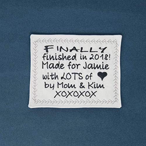 Embroidered Custom Quilt Label Quilt Tag Personalized 1 Custom 4 5x5 5 Inch Label Usa