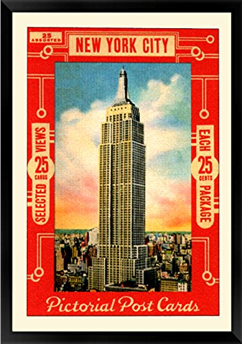 Vintage Style 1930's New York Empire State Building Poster -