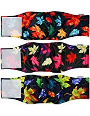 Leopinky Male Dog Diapers Reusable - Maple Leaf Belly Band for Male Dogs, 2021 New Male Wraps for Dogs Small