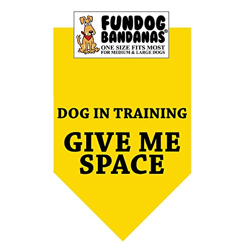 Dog In Training; Give Me Space Dog Bandana (One Size Fits Most for Medium to Large Dogs)