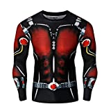 XCOSER Ant Man Tshirt Costume Outdoor Sports Shirt for Men Slim Fit S