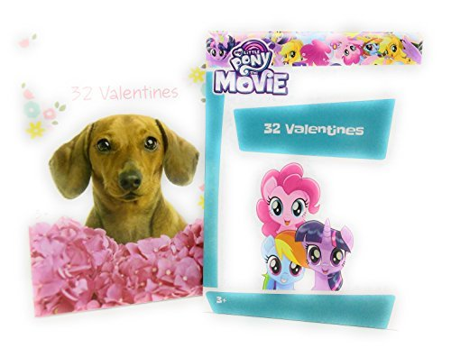 Price comparison product image Happy Valentine's Day 32 Cards Puppy Dog with My Little Pony Bundle