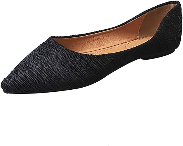 cheapest detailed images reliable quality Amazon.com | Meeshine Women's Pointy Toe Ballet Flats Comfortable ...