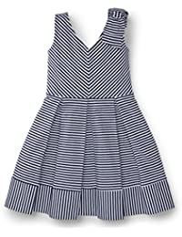 Girls Striped Knit Dress Made with Organic Cotton