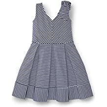 Hope & Henry Girls Striped Knit Dress Made With Organic Cotton