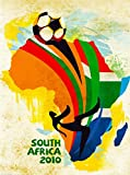 2010 FIFA World Cup Soccer Football South Africa African Vintage Travel Advertisement Art Poster Print. Measures 10 x 13.5 inches
