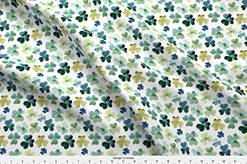 Shamrock Fabric - Shamrock Clover Shamrocks Green Irish St Patrick S Day St Patty S Day - by Hipkiddesigns Printed on Fleece Fabric by The Yard