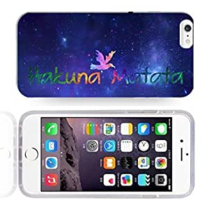 Africa Ancient Proverb HAKUNA MATATA Color Accelerating Universe Star Design Pattern HD Durable Hard Plastic Case Cover for iPhone 6 Plus Kimberly Kurzendoerfer
