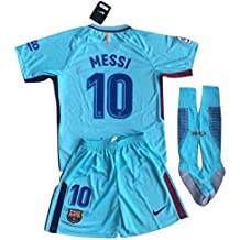 c8778a31a Nike Messi  10 FC Barcelona 2017-2018 Youths Away Soccer Jersey   Socks Set