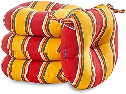 Deal of the week: Greendale Home Fashions 18 in. Round Outdoor Bistro Chair Cushion set of 4