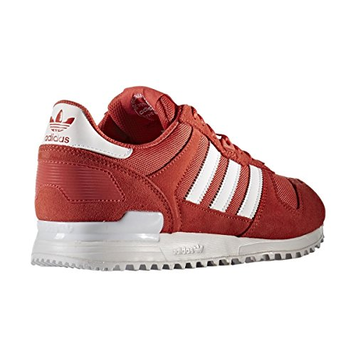 adidas Zx 700, Zapatillas Hombre, Rojo (Tactile Red/Footwear White/Tactile Red), 41 1/3 EU (7.5 UK)