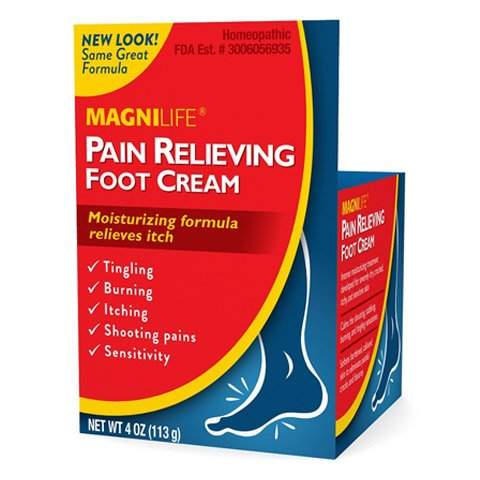 MagniLife Pain Relief Foot Cream, Shooting, Stabbing, Burning, and Tingling Fast Treatment (Best Foot Pain Relief Cream)