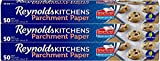 Reynolds Kitchens Parchment Paper Roll with SmartGrid - 3 Boxes of 50 Square Feet (150 Sq. Ft) (Value Pack)
