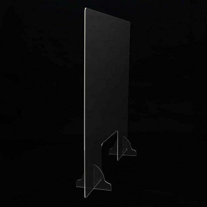 Mampara protectora para mostrador 65x65 cm metacrilato transparente. Mampara para mostradores de tiendas: Amazon.es: Salud y cuidado personal