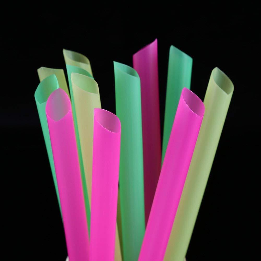 Paille en Plastique jetable de 100 Morceaux BSTUB Pailles /à Boire Flexibles Extra Longues color/ées