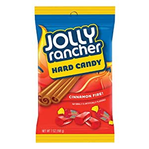 JOLLY RANCHER Hard Candy, Cinnamon Fire, Fat Free, 7 Ounce Bag (Pack of 12)