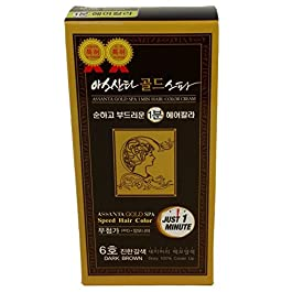 Assanta Gold Spa 1 Minute Permanent Hair Coloring Cream With Natural Extracts, Fast, Mild and Healthy
