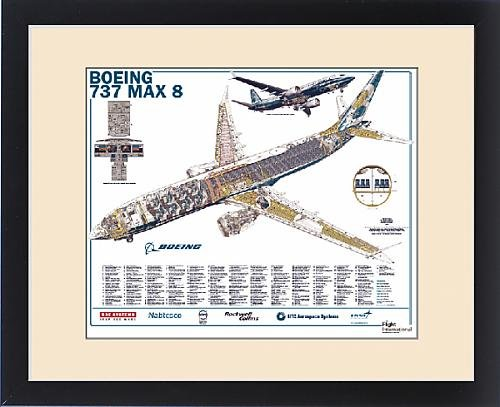 Framed Print of Boeing 737 Max 8 by Fine Art Storehouse (Image #3)