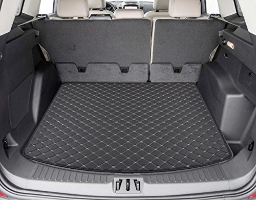 Ford Escape Ebay - Motor Trend PM403 Leatherette Trunk Mat Cargo Liner Custom Exact Fit-Luxury Padded PU Leather-for Ford Escape 2013-2016