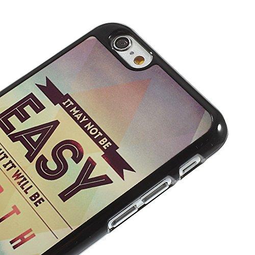 Étui Housse Coque Étui Plastique rigide Motivation Inscription en allemand decui Multicolore Plastique rigide de protection pour Apple iPhone 6/6S