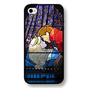 Disney Cartoon Sleeping Beauty Aurora Hard Plastic Phone Case Cover for iPhone 4/4s - Black by Maris's Diary