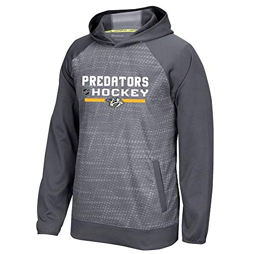 Reebok Nashville Predators Center Ice TNT Authentic Locker Pullover Hoodie Men's