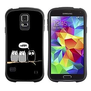 Paccase / Suave TPU GEL Caso Carcasa de Protección Funda para - Funny Woot Owl Owls Birds - Samsung Galaxy S5 SM-G900