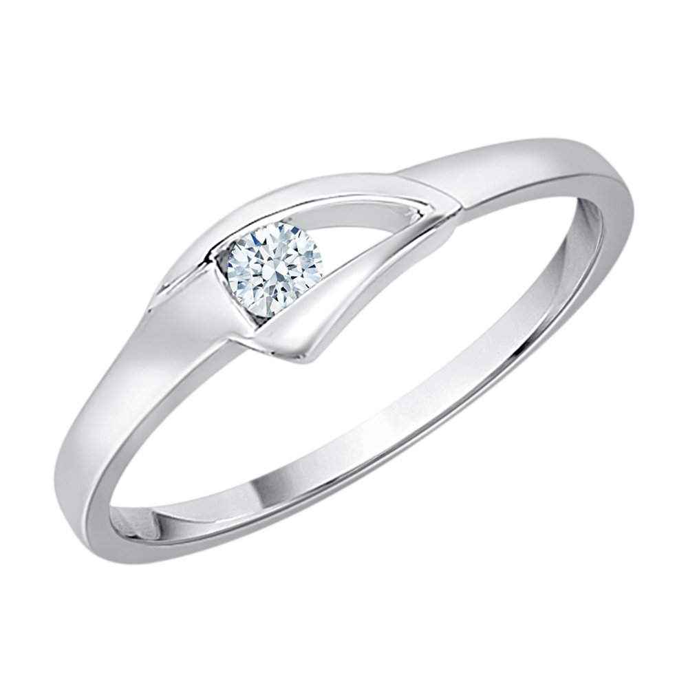 Diamond Promise Ring in Sterling Silver (1/10 cttw) (GH-Color, I2/I3-Clarity) (Size-6.75)