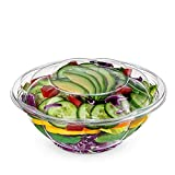 Pactiv 50 Pack Clear Plastic Disposable Salad Containers Set with Leak Proof Lids (24 Ounce) - Bulk Pack of Portable Salad To-Go Meal Prep Food Boxes
