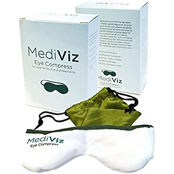Mediviz Blepharitis Dry Eye Mask - Relieving Dry Eye Moist Heat Compress for Dry Eye, Styes, Meibomian Gland Dysfunction, Headaches, Sinuses, and Allergies