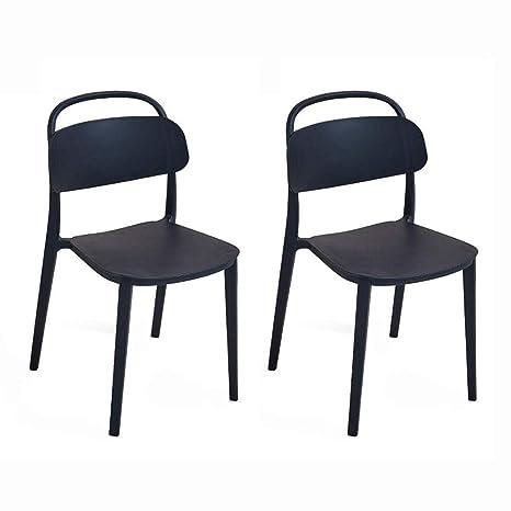 Amazon.com: Dall silla de comedor moderna minimalista silla ...