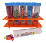 Bead Storage Solutions Medium Containers – Plastic Test Tubes for Beads – 20 Screw Top Storage Tubes with Rack for Jewelry, Beads, Crafts and More - See and Find Beads Easily!