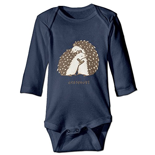 Hedgehog Outfits (Cute Cartoon Hedgehog Hugs 100% Cotton Long Sleeve Bodysuit Outfits For Toddler Baby)