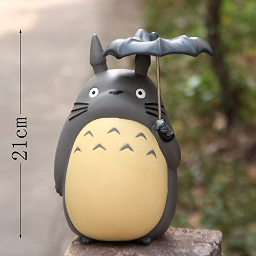 20cm Anime Cartoon Totoro Umbrella Action Figures PVC brinquedos Collection Figures toys for christmas gift